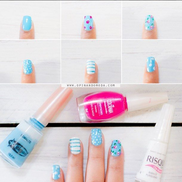 floral mix match diy nail art bmodish