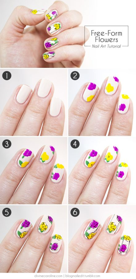 15 Easy To Follow Flower Nail Art Tutorials Be Modish