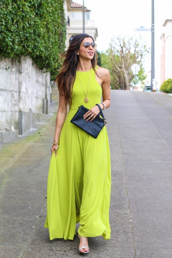 lime maxi dress summer outfit bmodish