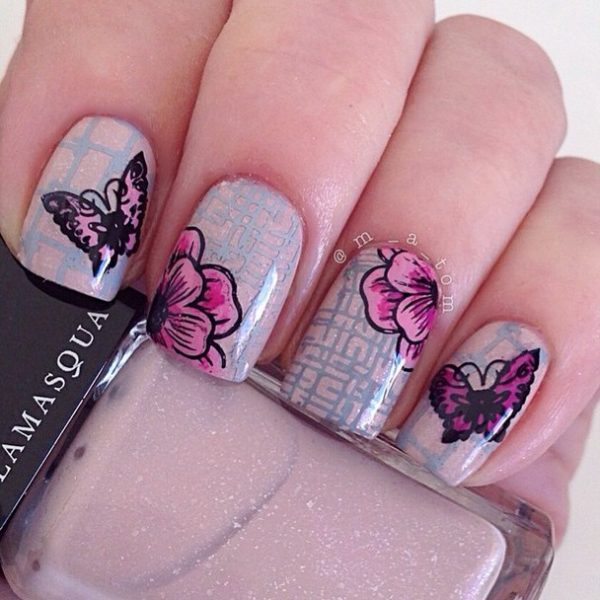 lovely butterfly nails bmodish