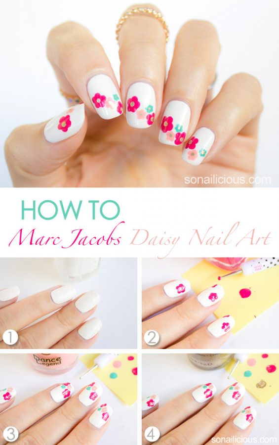 marc jacobs spring floral nail tutorial bmodish