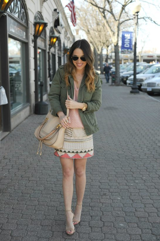 military jacket with embellished skirt bmodish