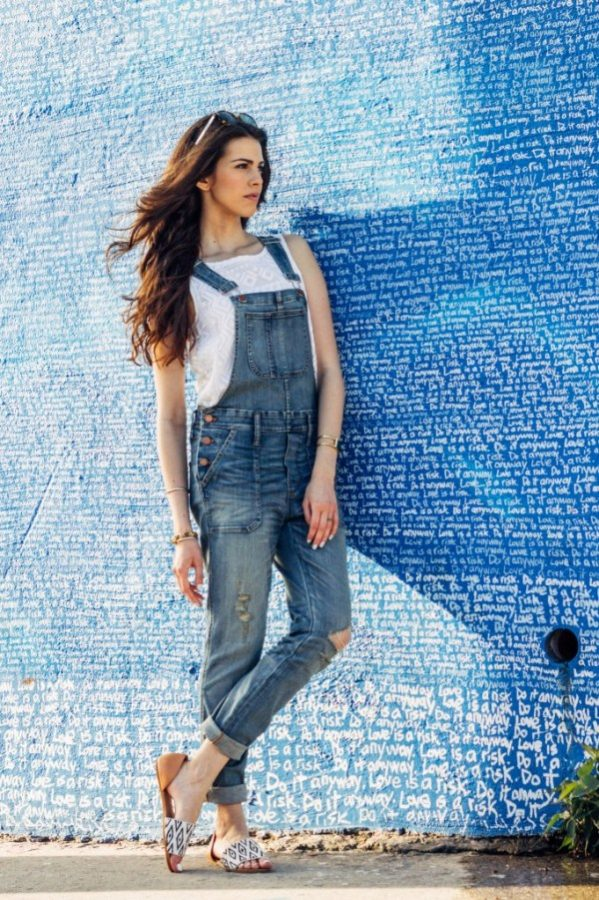overall with lace top bmodish