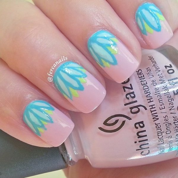 pastel floral spring nails bmodish