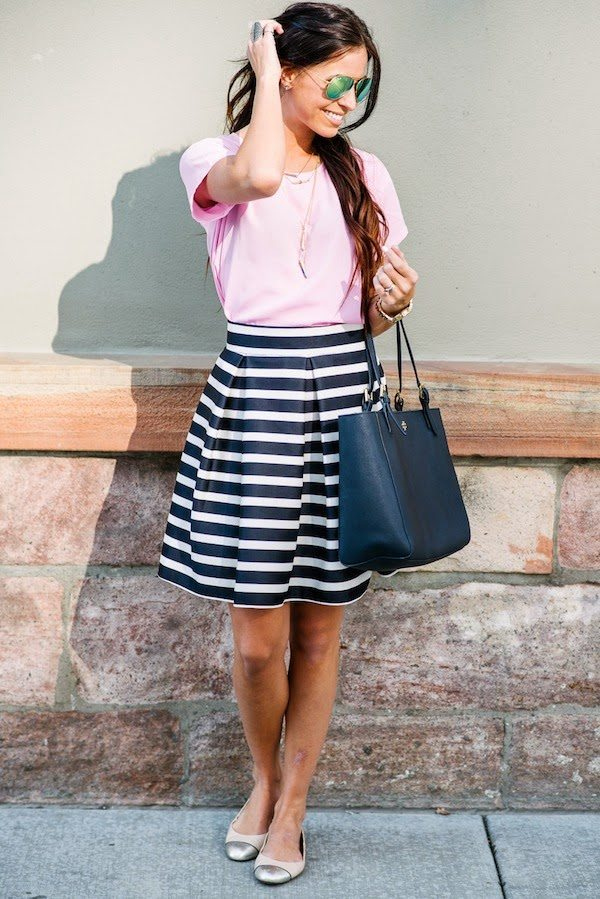 pink and navy stripes bmodish