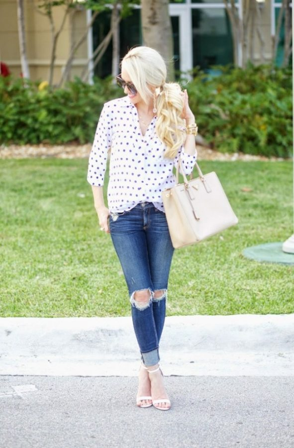 polka dot blouse stylish spring style bmodish