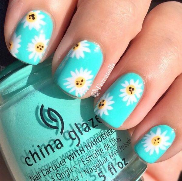 pretty daisies nail art bmodish