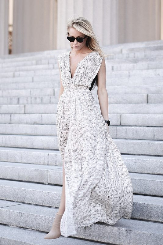 pretty pleated maxi dress bmodish