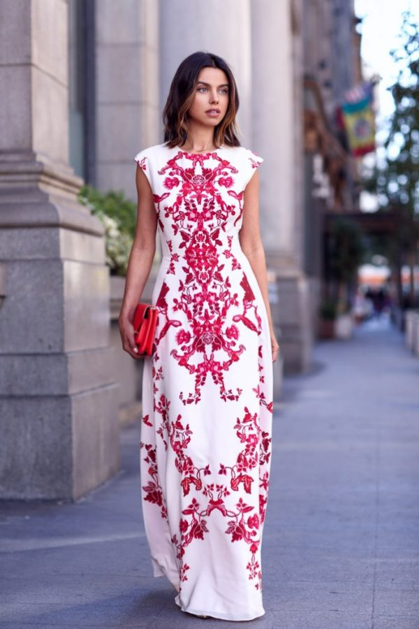 printed maxi dress outfit bmodish