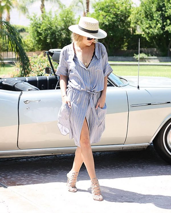 shirt dress spring outfit bmodish