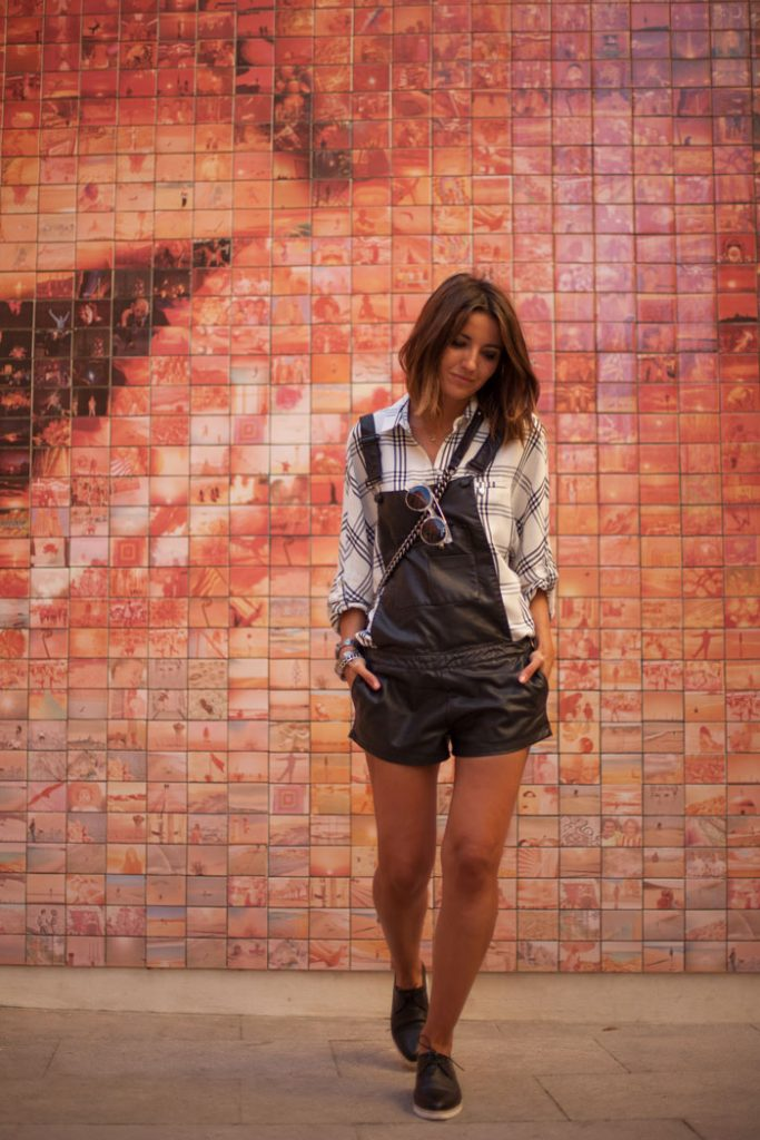 shirt with leather overall bmodish