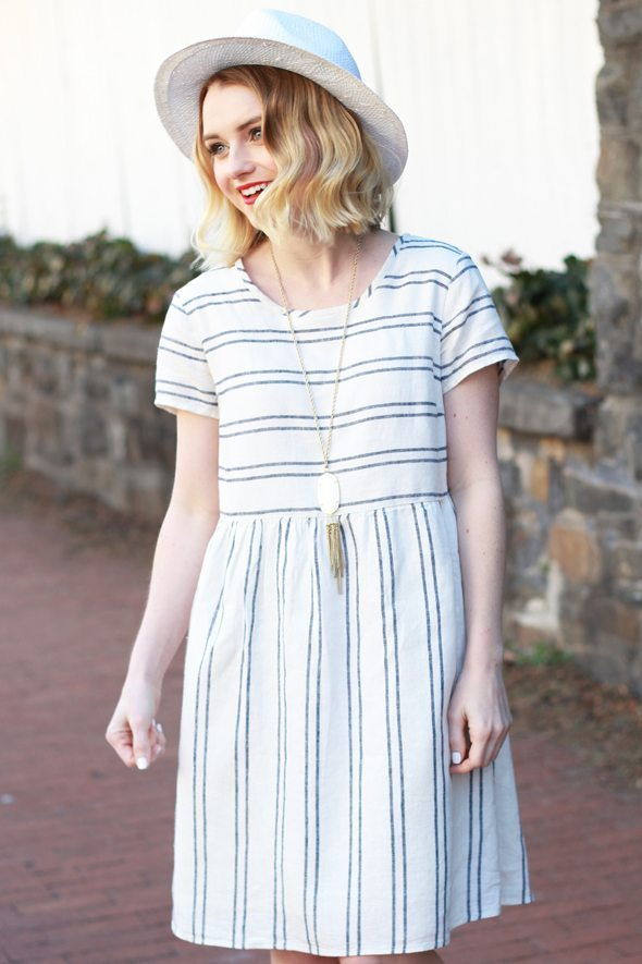 simple cute stripe dress for spring summer bmodish