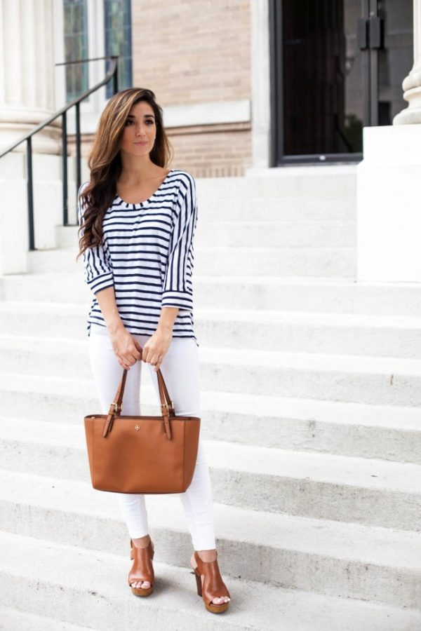 spring summer stripe outfit bmodish