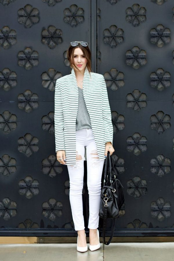 stripe coat outfit style bmodish