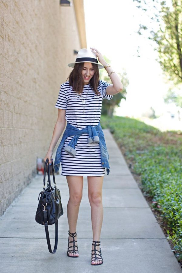 striped-dress-for-summer bmodish