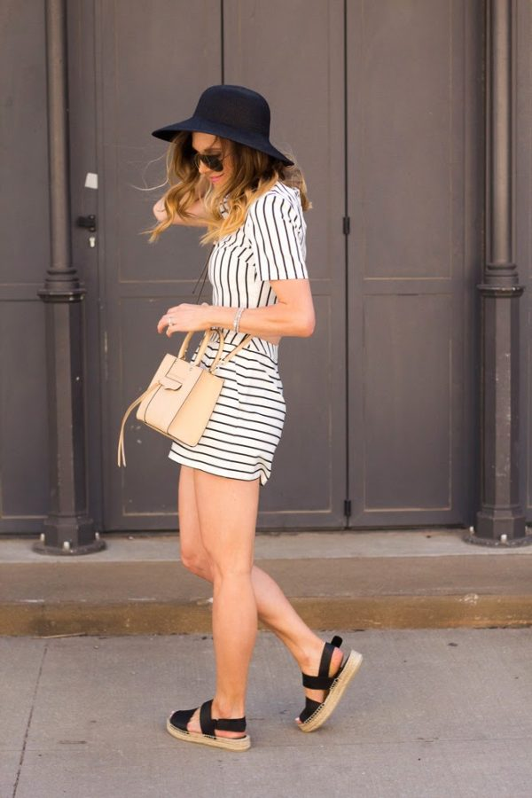 striped two piece summer outfit bmodish