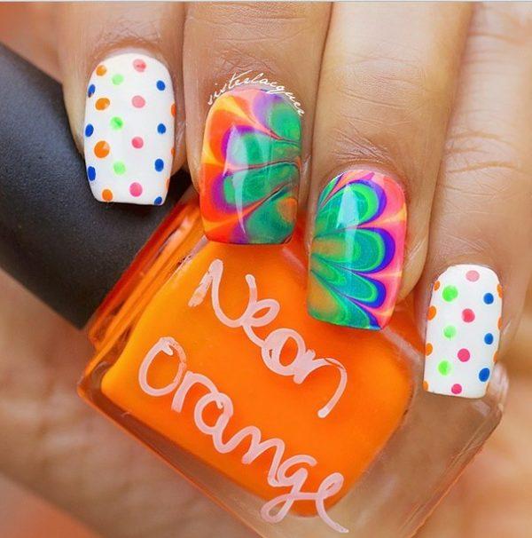 watermarble nails bmodish