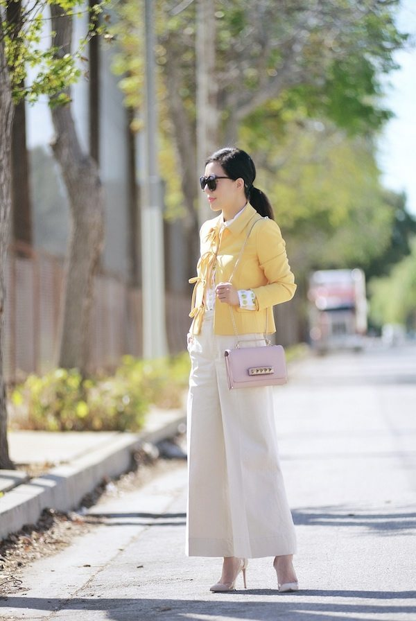 wide leg pants spring outfit bmodish