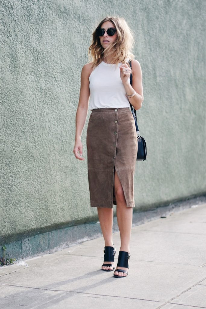 allsaint suede pencil skirt bmodish