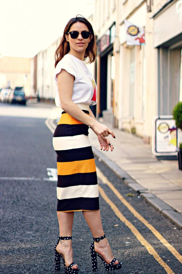 asos scuba pencil skirt outfit bmodish