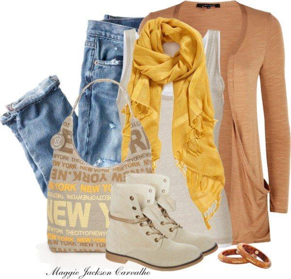 cozy boyfriend cardigan spring outfit bmodish