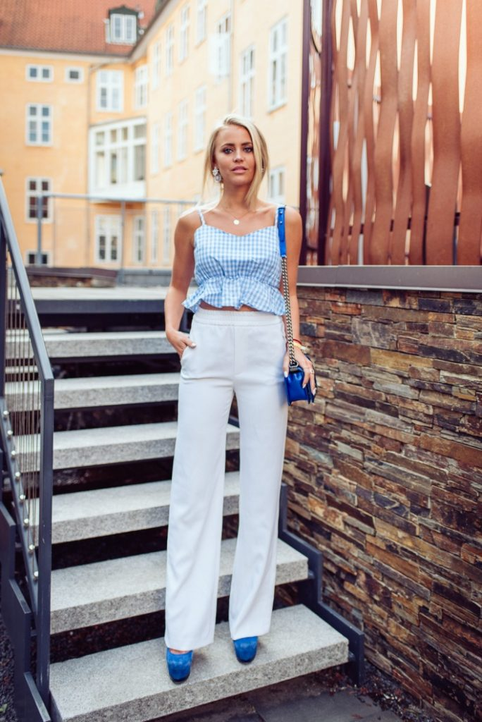 crop top white wide leg pants bmodish