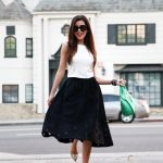 spring black and white outfit