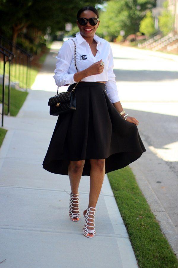 high low skirt channel shirt bmodish
