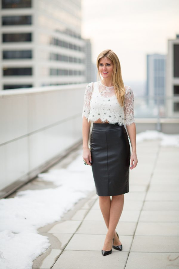 how to wear leather and lace bmodish