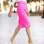 bright pink pencil skirt outfit