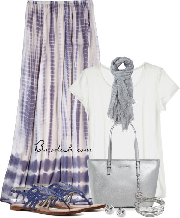 maxi skirt purple chic casual spring outfit bmodish