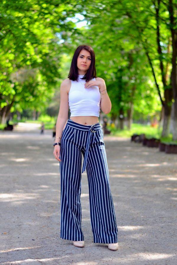 vertical stripe wide leg pants bmodish