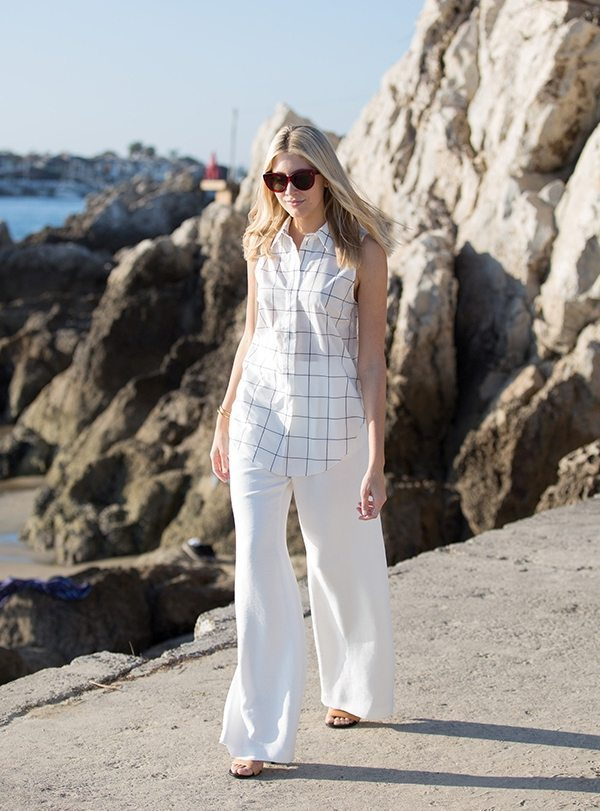white wide leg pants bmodish