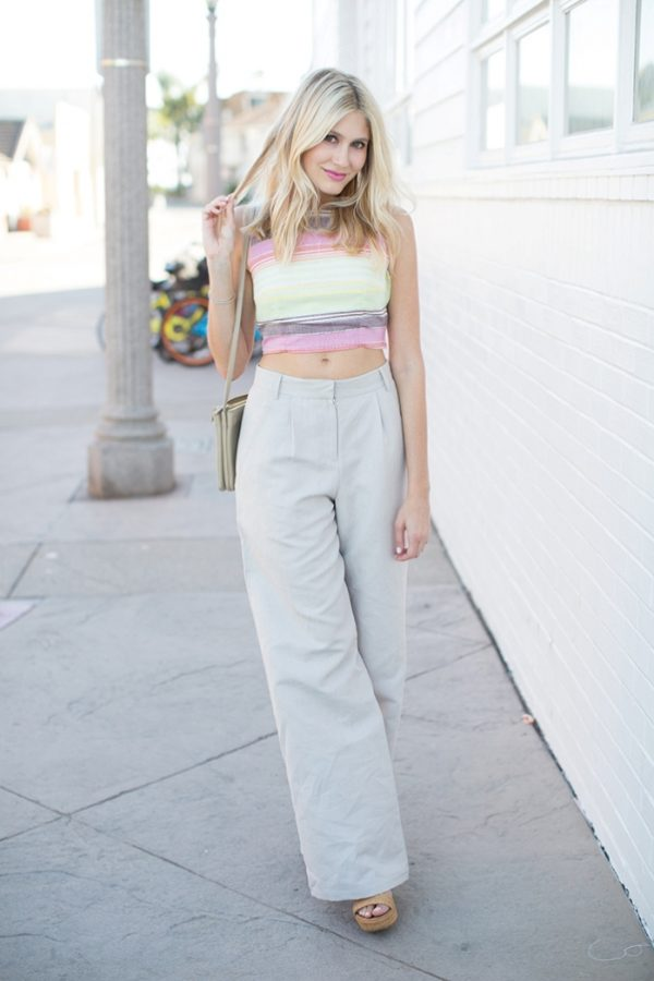 wide leg pants with crop top bmodish