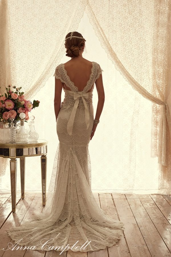 CocoBackFitandFlare anna campbell wedding dress bmodish