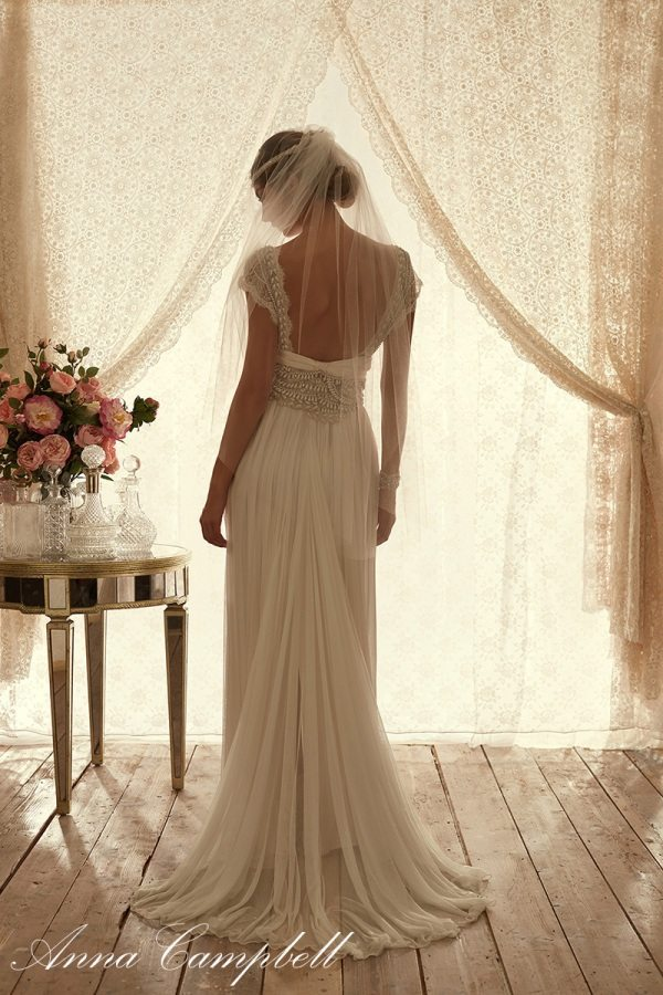 CocoBackSilkTulle anna campbell wedding dress with tulle bmodish
