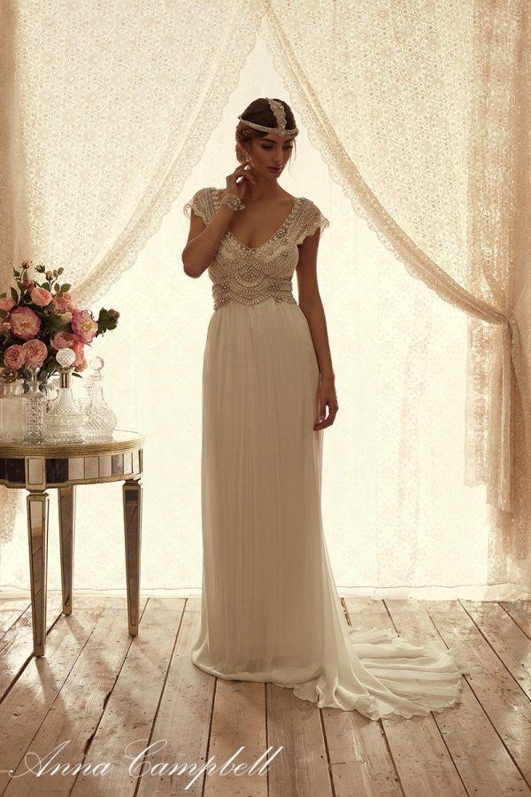 CocoFrontSilkChiffon anna campbell wedding gown bmodish