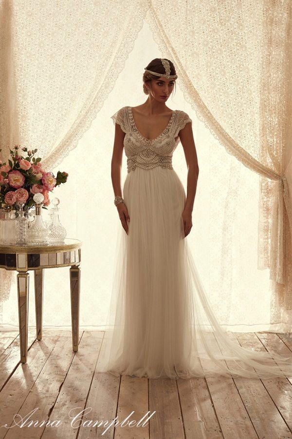 CocoFrontSoftTulle anna campbell tulle wedding dress bmodish
