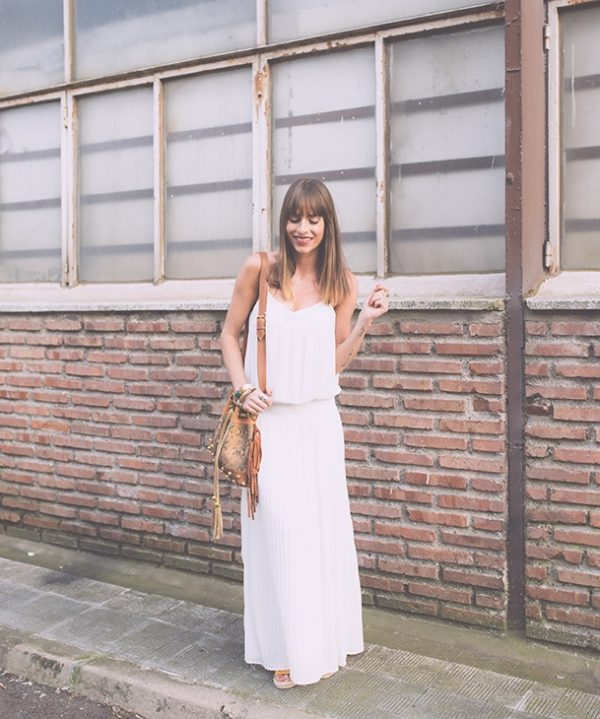 Long dress Vila white dress bmodish
