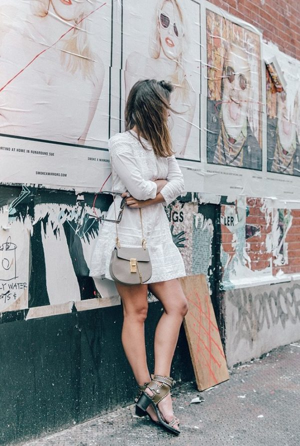 little white dress street style outfit