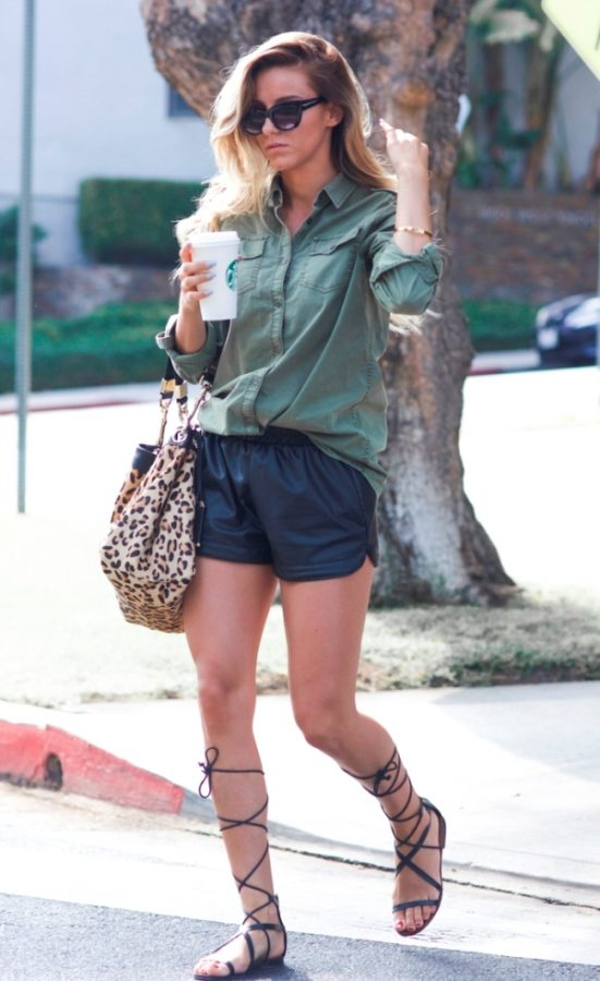 casual outfit with gladiator sandals bmodish