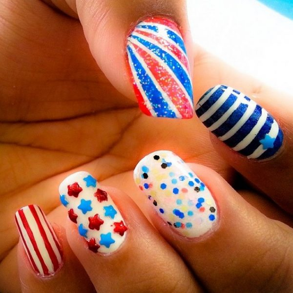 cute 4th of july nails bmodish
