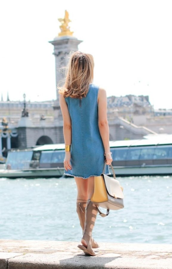 denim dress gladiator sandals bmodish