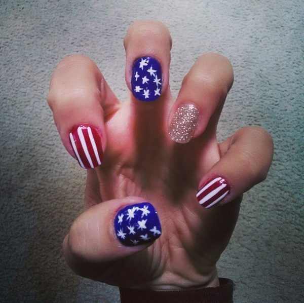 easy 4th of july nails bmodish
