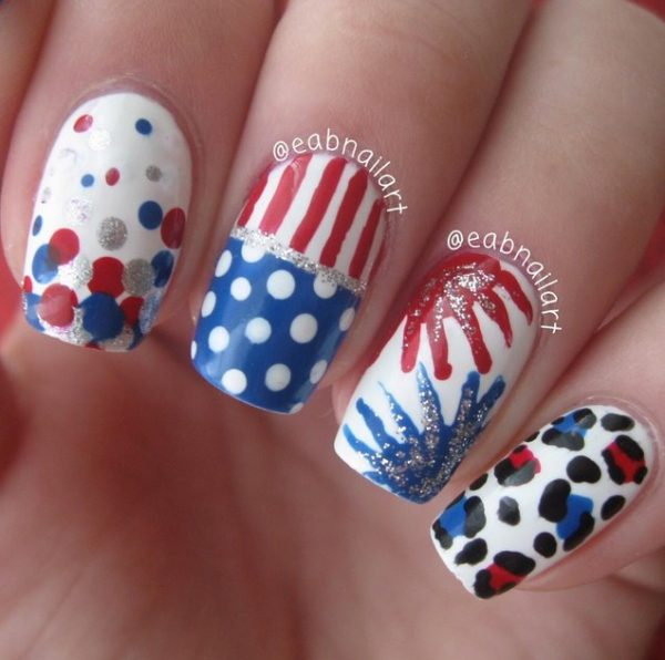 happy 4th of july nails 10 bmodish