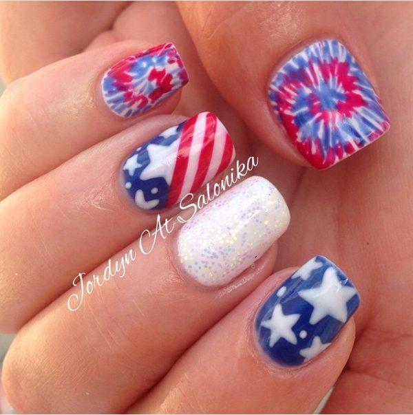 happy 4th of july nails 11 bmodish