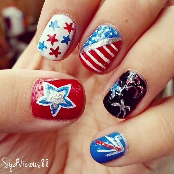 happy 4th of july nails 4 bmodish