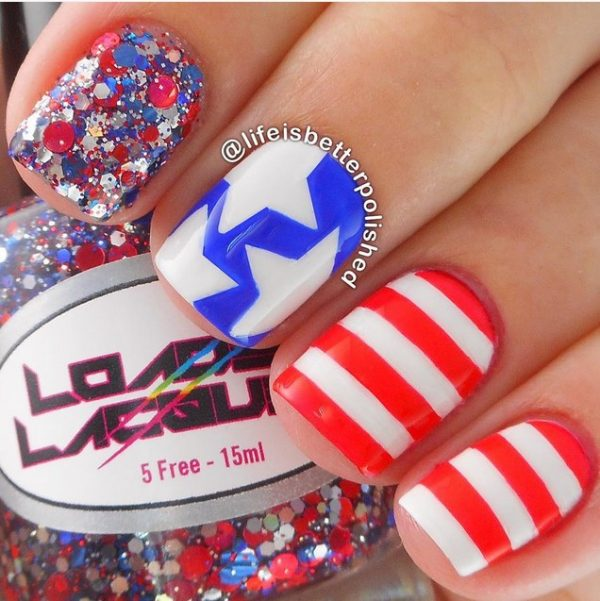 4th of july nail designs
