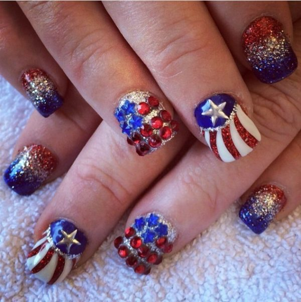 independence day nail art bmodish