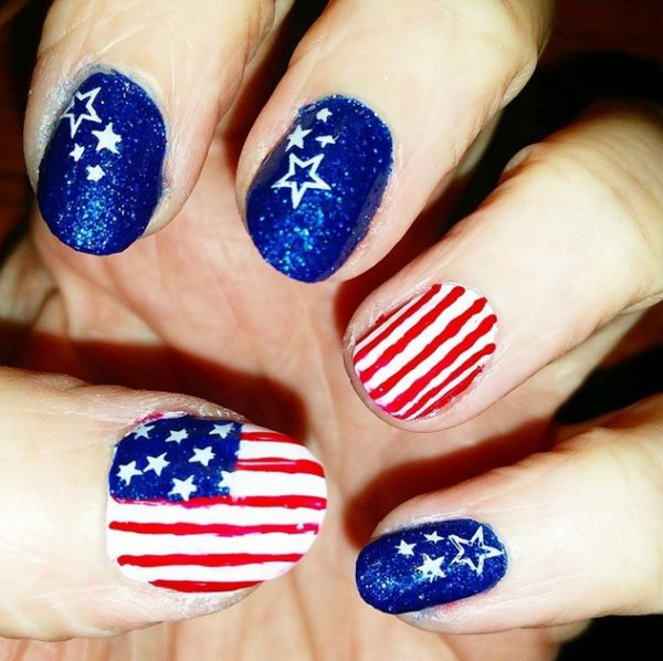 moar 4th of july nails